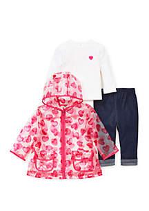 Baby Girls Heart Jacket Set