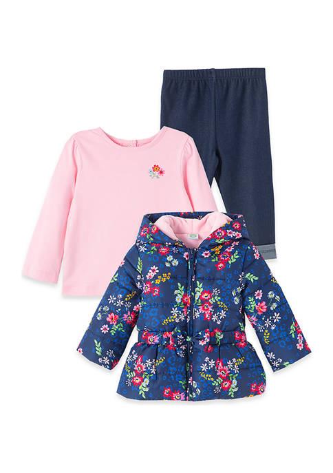 Little Me Baby Girls Floral Jacket Set