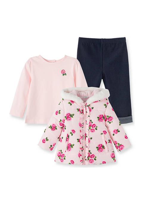 Little Me Baby Girls Rose Jacket Set