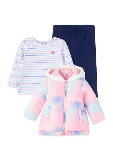Little Me Baby Girls Tie Dye Jacket Set