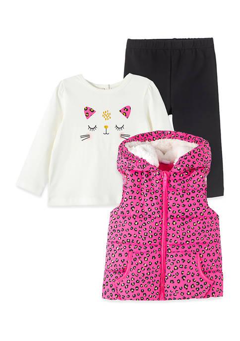Baby Girls Leopard Vest Set
