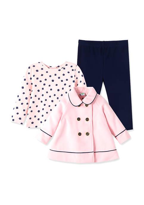 Little Me Baby Girls Pink Bow Jacket Set