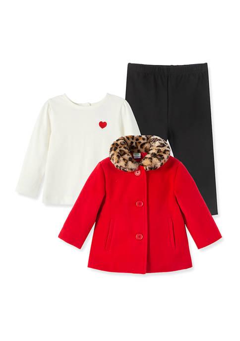 Little Me Baby Girls Red Jacket Set