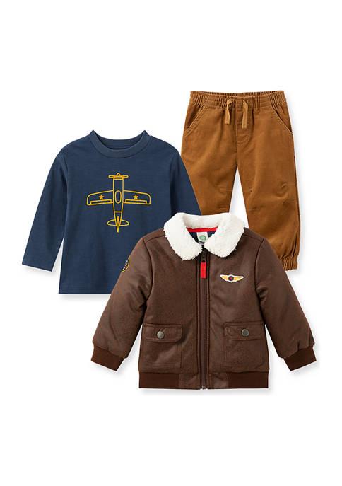 Little Me Baby Boys Aviator Jacket Set