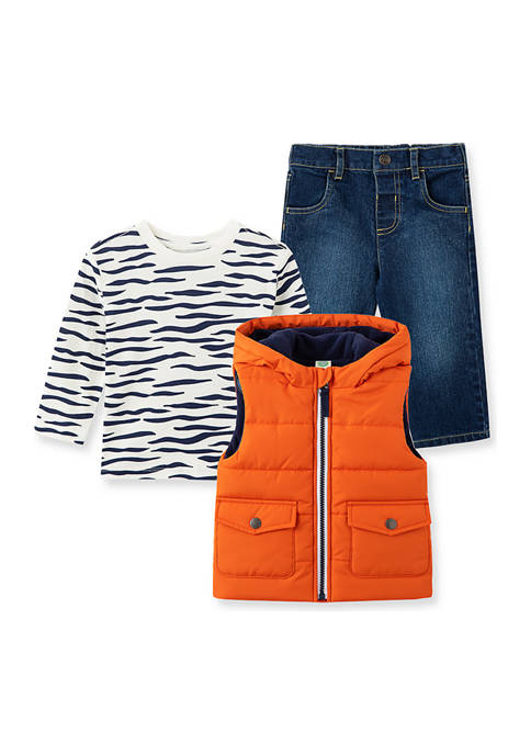 Baby Boys Tiger Vest Set