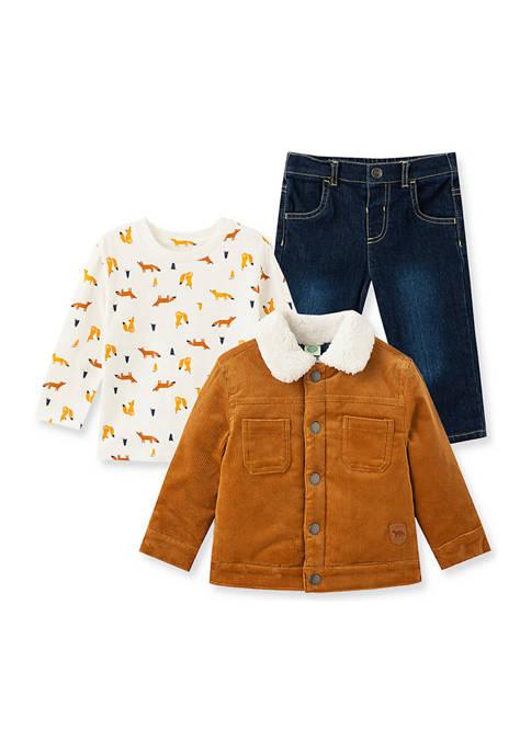 Little Me Baby Boys Corduroy Jacket Set