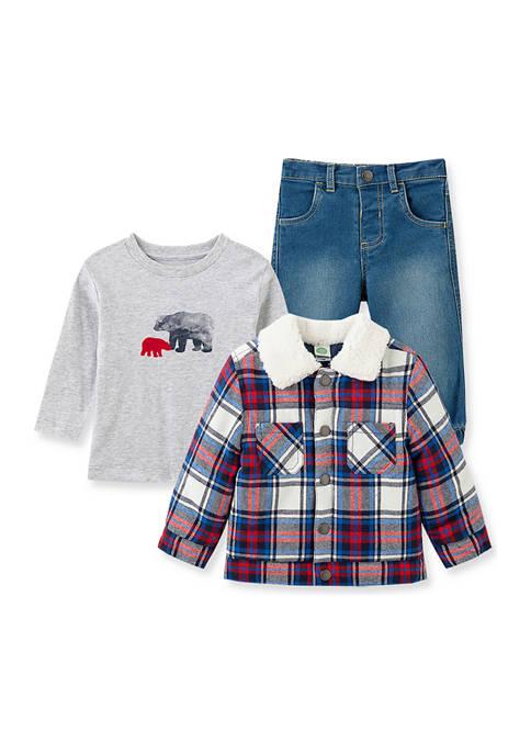 Baby Boys Plaid Jacket Set