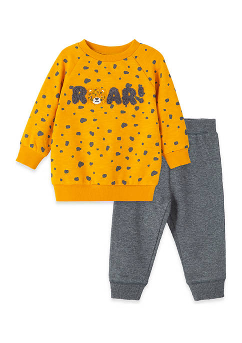 Baby Boys Roar 2 Piece Sweatshirt Set