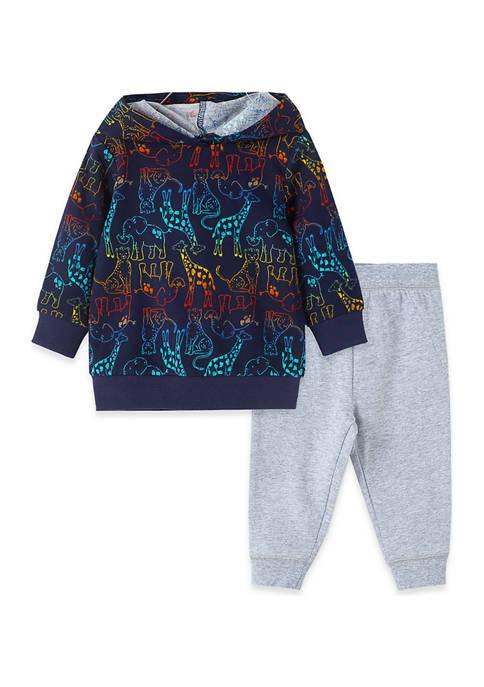 Little Me Baby Boys Safari 2 Piece Sweatshirt
