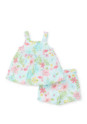 Baby Girls Fisher Price Pink Flower Daisy Swimsuit Bathing Suit 18 24 Months NEW