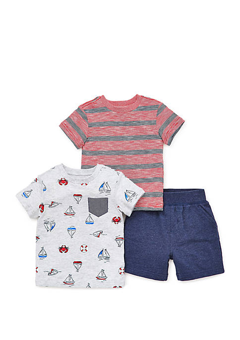 Little Me Baby Boys Nautical 3 Piece Play