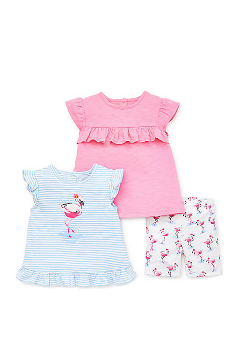 Little Me Baby Girls Flamingo 3 Piece Play