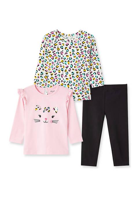 Baby Girls Leopard 3 Piece Playset