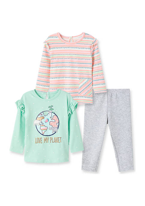 Little Me Baby Girls Planet 3 Piece Playset