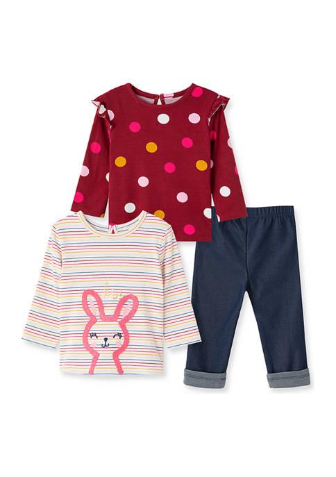 Little Me Baby Girls Bunny 3 Piece Playset