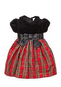 Baby Girls Plaid Dress Panty Set