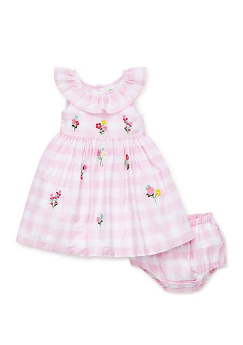 Baby Girls Gingham Sundress Set
