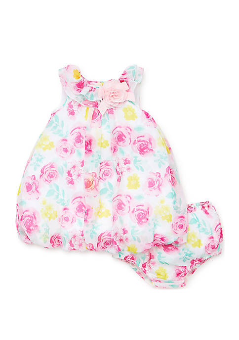 Little Me Baby Girls Soft Rose Dress Set