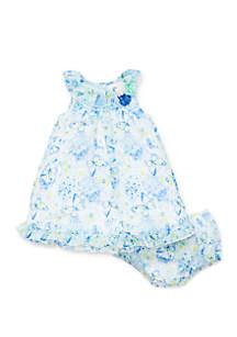 Little Me Baby Girls Butterfly Chiffon Dress Set