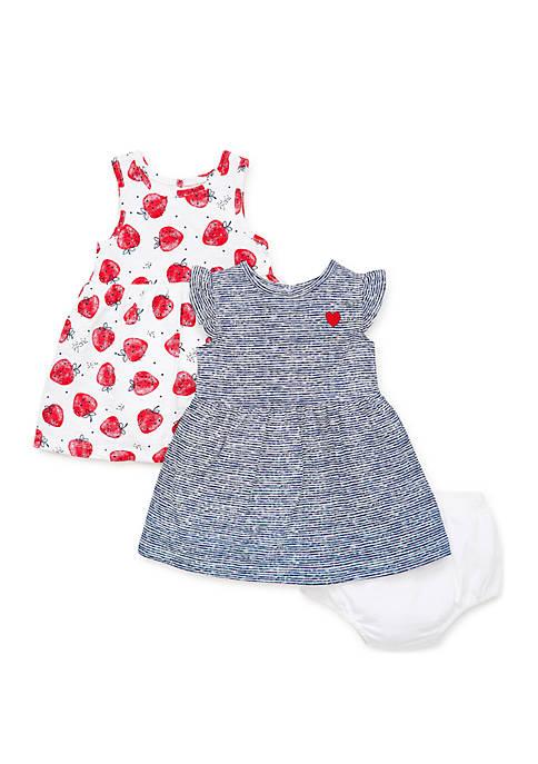 Baby Girls Strawberry Knit Dress Set