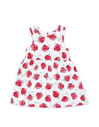 f96360964 Little Me Baby Girls Strawberry Knit Dress Set