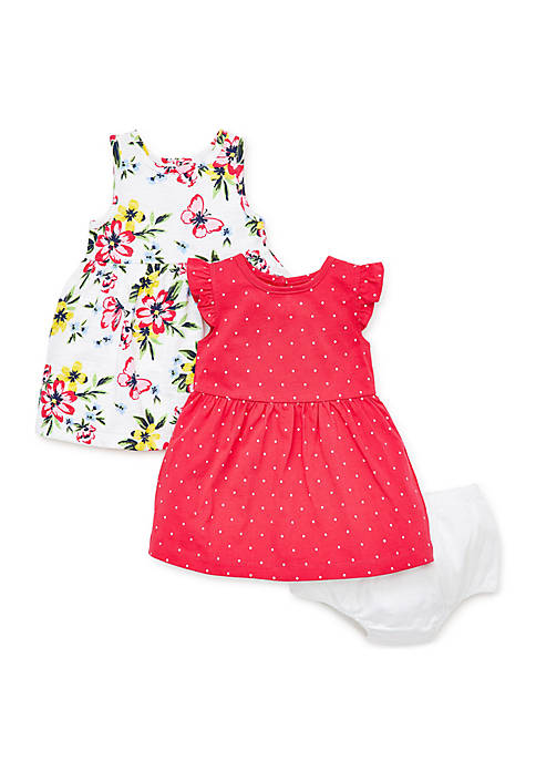 Little Me Baby Girls Floral Knit Dress Set