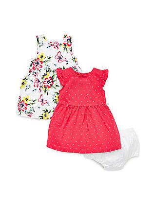 96501bb98 Little Me Baby Girls Floral Knit Dress Set