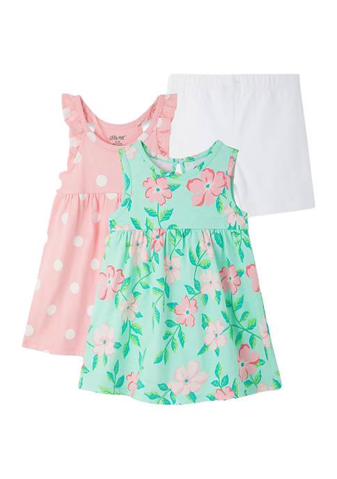 Baby Girls Floral Knit Dress Set