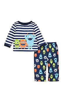 Toddler Boys Monster Pajama Set