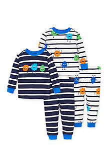 Infant Boys 4-Piece Cotton Pajamas
