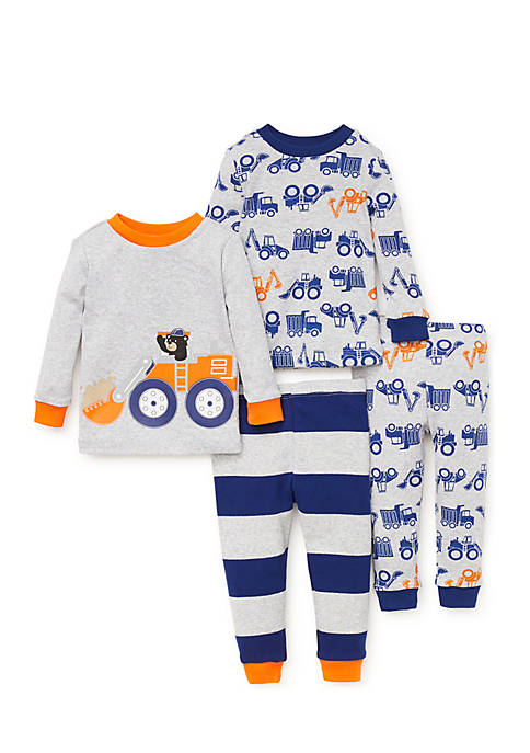 Little Me Toddler Boys Construction Pajama Set