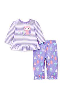 Toddler Girls Owl Pajama Set