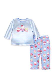 Toddler Girls Cupcake Pajama Set