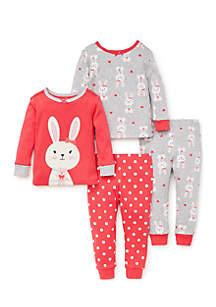 Baby Girls Bunny Cotton Pajama Set