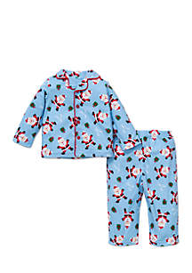 Infant Boys 2-Piece Santa Pajamas