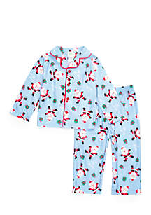 Toddler Boys Santa Coat Pajama Set