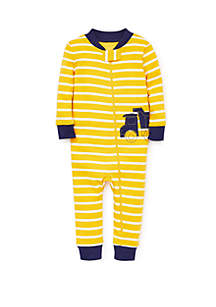 Little Me Baby Boys Construction Zip Front Pajamas
