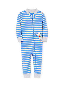 Little Me Baby Boys Dog Zip Front One-Piece
