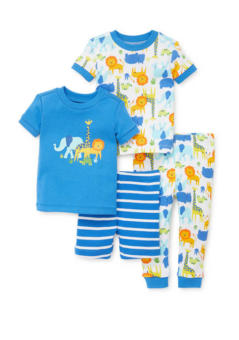 Little Me Toddler Boys 4 Piece Safari Pajama