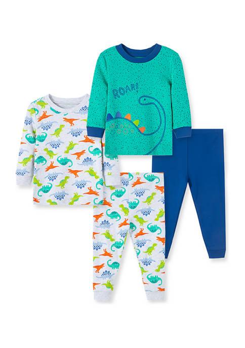Baby Boys Dino 4 Piece Pajama