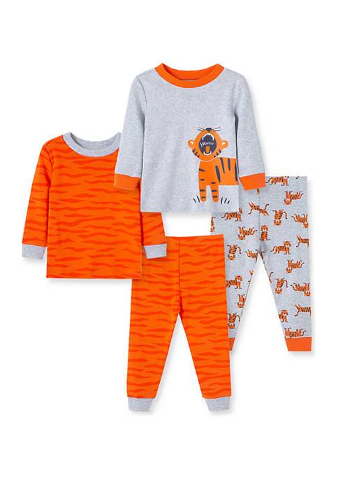 Baby Boys Tiger 4 Piece Pajama