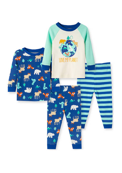 Little Me Baby Boys Planet 4 Piece Pajama