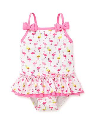 960210360334c6 Little Me. Little Me Girls Infant Flamingo Print One Piece Swimsuit