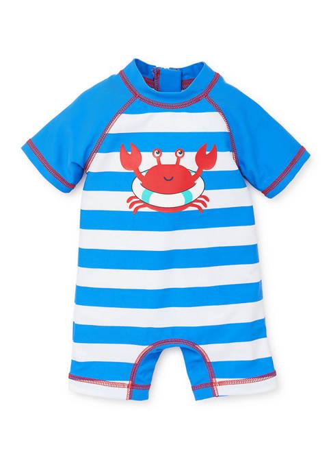 Little Me Baby Boys Crab Rashguard Swim Suit
