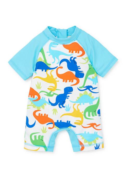 Little Me Baby Boys Dino Rashguard Swim Suit