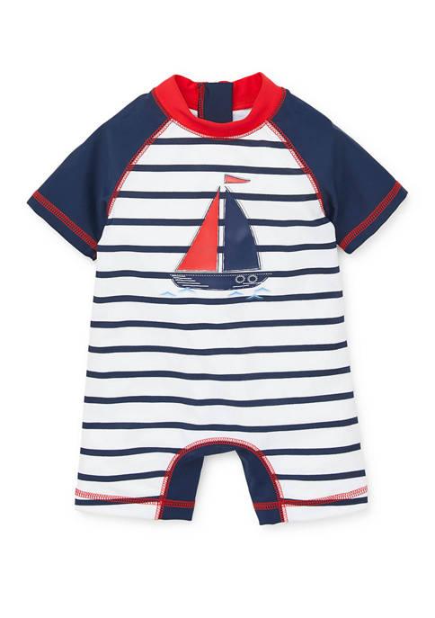 Little Me Baby Boys Sail Boat Rashguard Swim