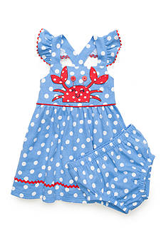 Nursery Rhyme® Crab Polka Dot Dress
