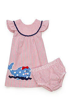 Nursery Rhyme® Whale Stripe Dress Set