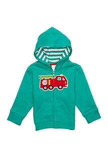 Baby Boys Full Zip Applique Hoodie