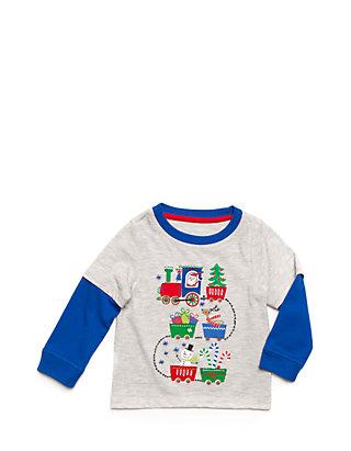 df2add8ecf6 Nursery Rhyme® Holiday Train 2 in 1 Long Sleeve Shirt Boys Infant